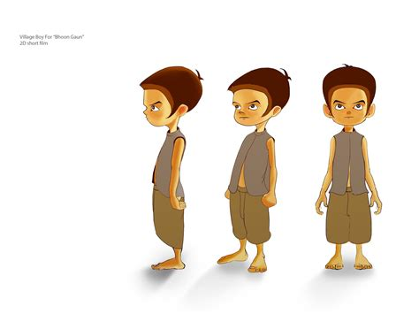 Drawing 2d Characters by Kid Character For 2d Bhoot Gaun