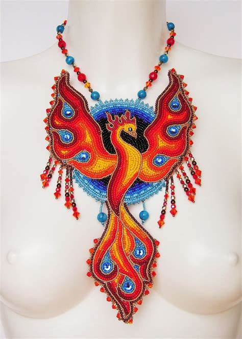 embroidery design necklace bead embroidery necklace 11 phoenix by