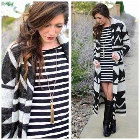 Max Strippy Cardi bright barger express striped dress