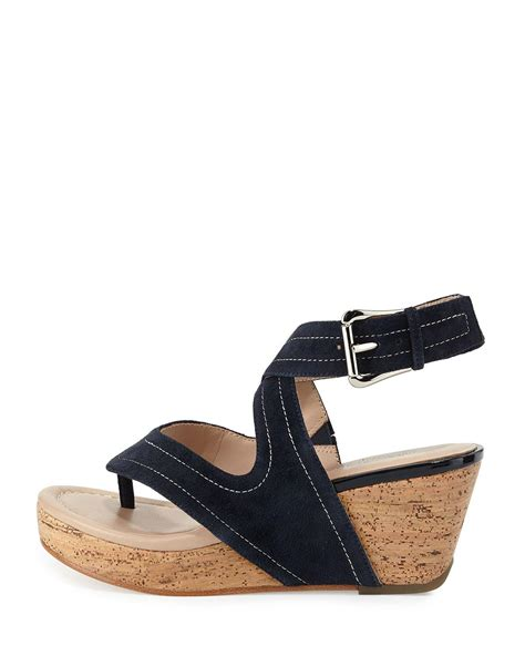 Donald 2 Straps Hush Puppies donald j pliner alma ankle wedge sandal in