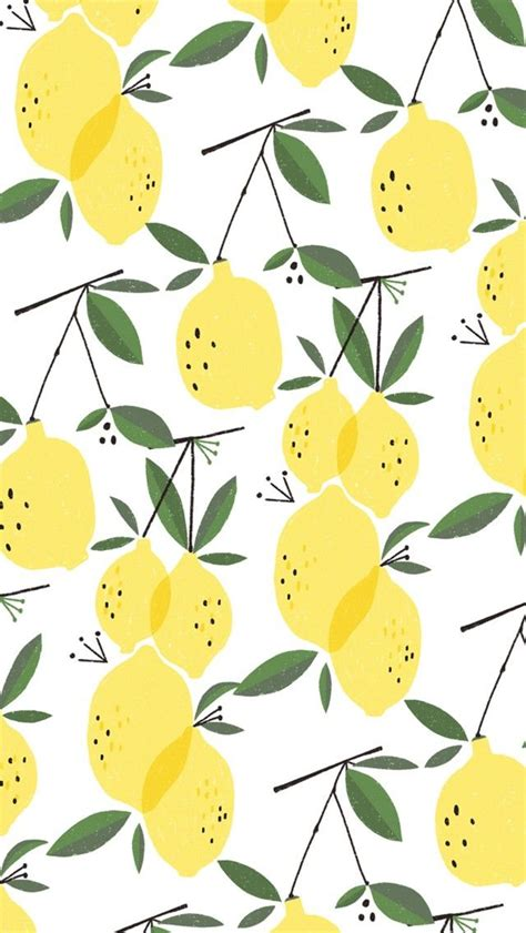 cute lemon pattern lemons pattern cute prints patterns design phone