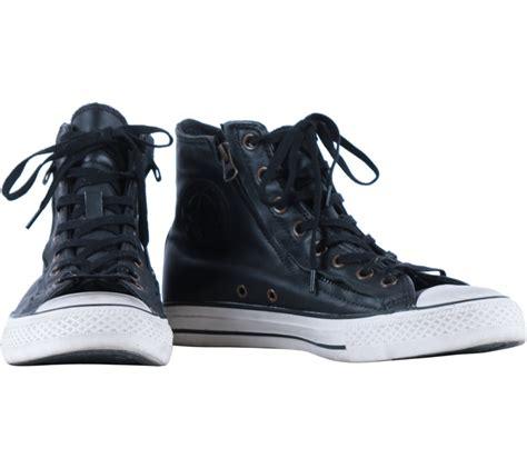 Sepatu Converse High Black converse black high top leather sneakers