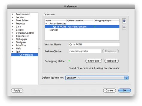 qt on mac os x tutorial qt version management