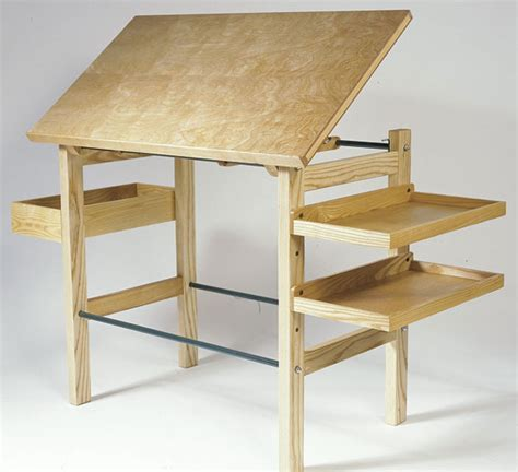 Drafting Table Woodworking Plans Drafting Table Finewoodworking