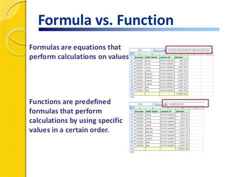formula 3 vs formula excel functions formulas