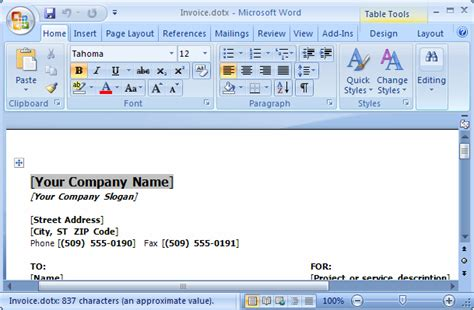 ms word  open  template