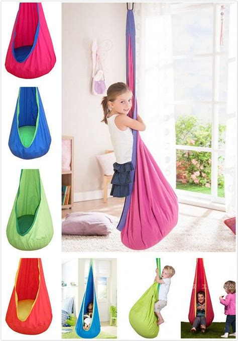 indoor hanging swing chair for kids child pod swing chair reading nook tent indoor outdoor