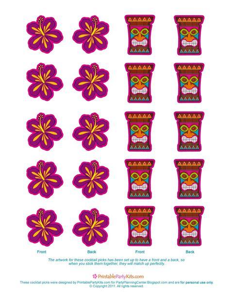 free printable luau birthday banner party planning center free printable luau cocktail picks