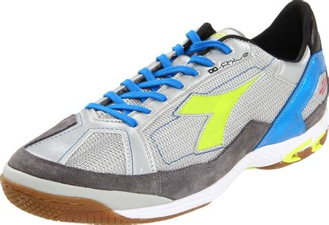 diadora mens fhive n idx soccer shoe in gray for