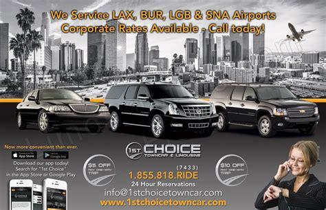 Lax Limo Service by Lax To Anaheim Town Car Service Lax Limo Service Anaheim