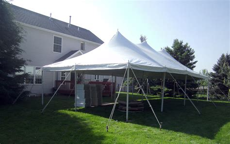 backyard tent party 20ft x 40ft rope pole event tent rental elite