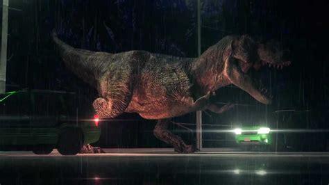jurassic park car trex dinosaurs t rex jurassic park 3d animation re created