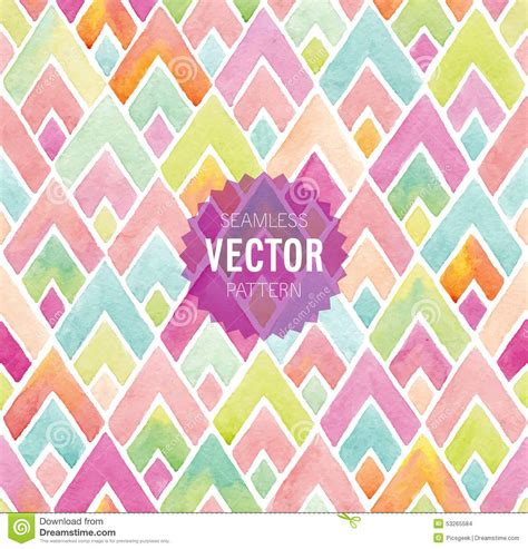 watercolor seamless pattern watercolor seamless geometric pattern stock vector