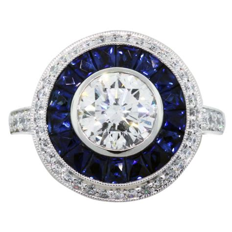 and sapphire engagement rings ct