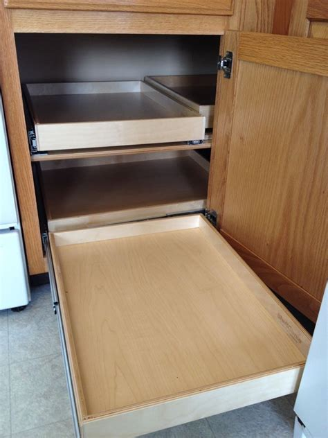 blind corner cabinet pull out shelves woodworking