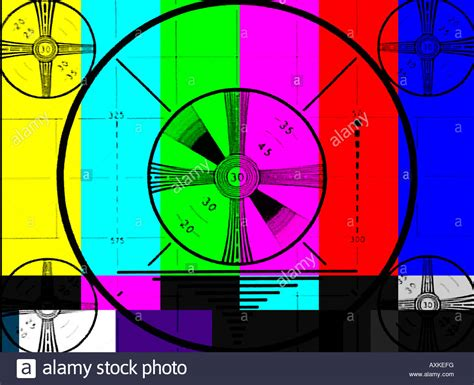 tv test pattern stock images royalty free images television test pattern super imposed on color bars stock
