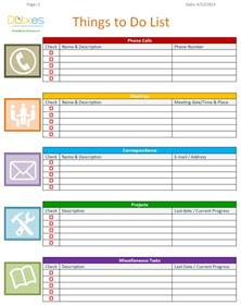 To Do List Template Excel by To Do List Template Business Version List Templates