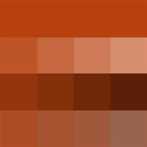 rust paint color rust hue tints shades tones hue color with