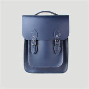 Portrait leather backpack made from loch blue leather the leather