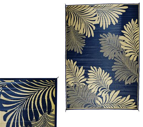 Cing Outdoor Mats by Barbara King Leaf 5 X 8 Reversible Outdoor Mat Page 1