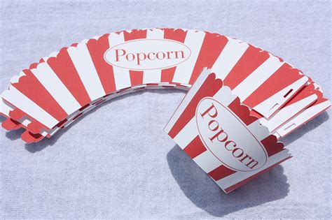 popcorn wrapper template free cupcake wrappers