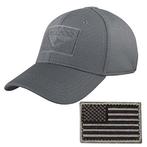Topi Tactical Velcrotactical Hat condor flex tactical cap graphite stitched velcro patch accessory hat l xl ebay