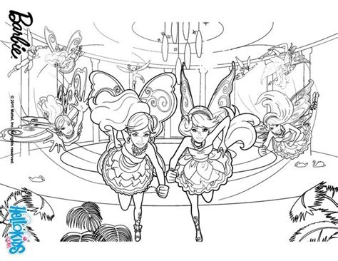 barbie and raquelle fairies coloring pages hellokids com