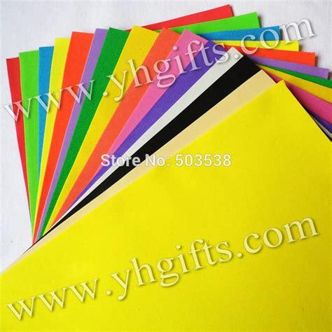 Foam Paper Crafts - 100pcs 10bags lot 1mm 10 color foam sheets sponge paper