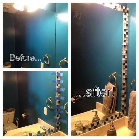 how to install a bathroom mirror with glue 17 best images about mirrors with tile on pinterest diy