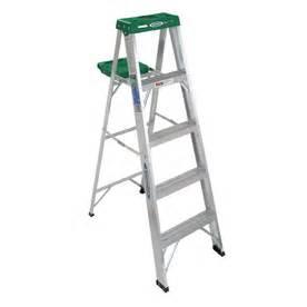 shop werner 5 ft aluminum 225 lb type ii step ladder at