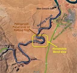 colorado river rafting map half day raft trips grand