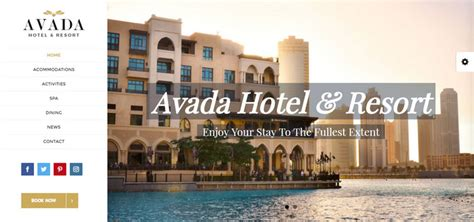 Avada Theme Hotel | avada wordpress theme 5 0 review with 22 demo homepage layouts