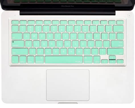 Keyboard Laptop Macbook kuzy mint green keyboard cover silicone skin for macbook pro 13 15 17 with or w out retina