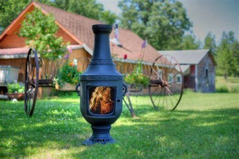 large chiminea outdoor fireplace the world s catalog of ideas