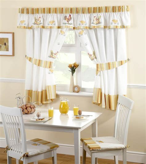 curtains for kitchen roosters kitchen curtains white yellow free uk delivery terrys fabrics
