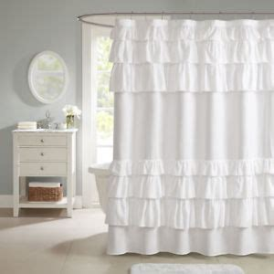 beautiful shabby chic white grey blue ruffles shower curtain    ebay