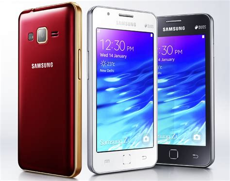 samsung z1 mobile gazette mobile phone news