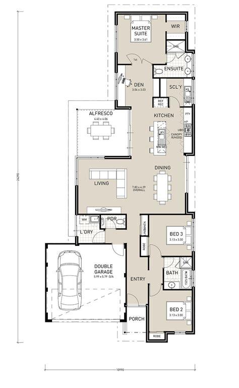 single story house plans for narrow blocks escortsea