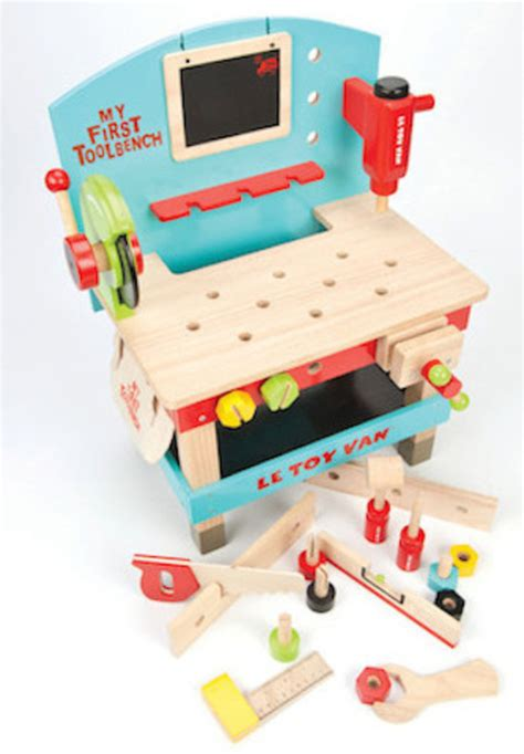 my first work bench le toy van wooden my first tool bench with tools