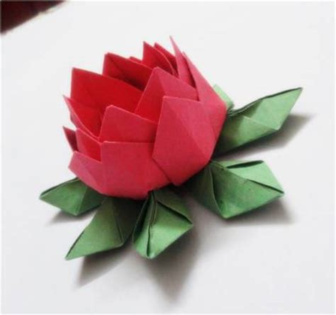 How To Make A Paper Lotus - modular origami paper lotus platter