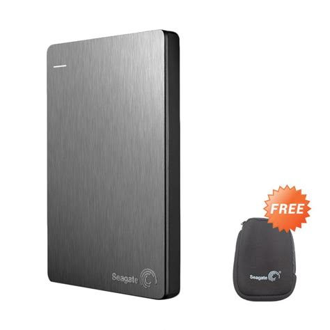 Hardisk Seagate 1tb Usb 3 0 jual seagate backup plus slim disk eksternal silver 1tb 2 5 quot usb 3 0 free pouch