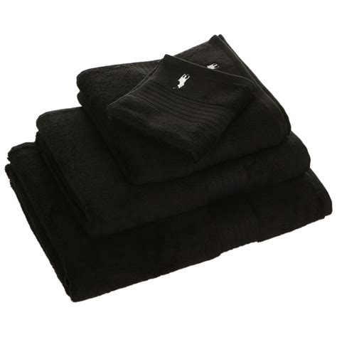 black bathroom towels buy ralph lauren home player towel black hand towel