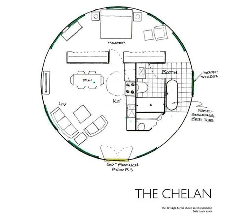 yurt floor plans the chelan yurt