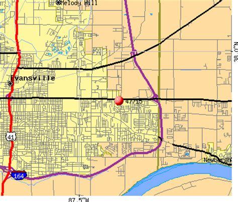zip code map evansville in 47715 zip code evansville indiana profile homes