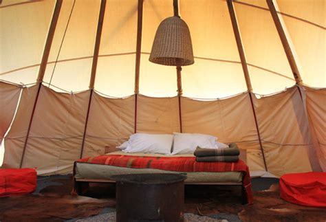 Teepee Interior by More From Marfa El Cosmico Golightly