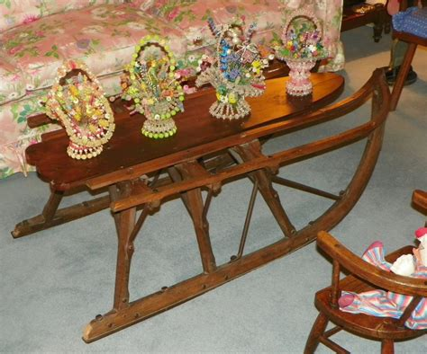 sale coffee table vintage1800 s made sled