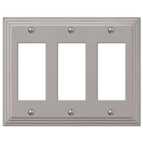 amerelle 84dn steps cast metal wallplate satin upc 070686553572 steps hton bay lighting plates
