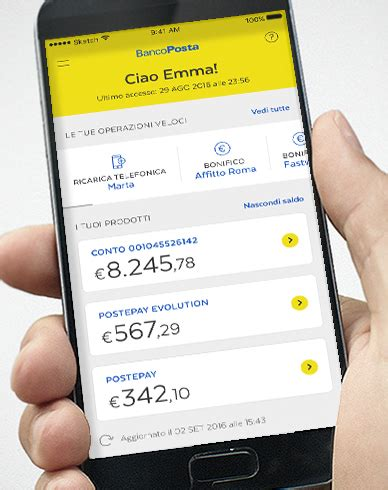 banco post app bancoposta poste italiane