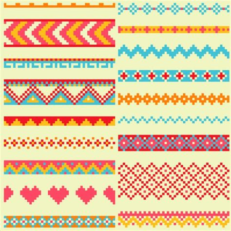 pixel pattern ai pixel patterns geometric shapes vector free download