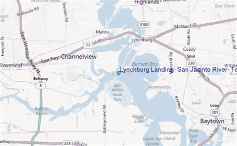 san jacinto texas map lynchburg landing san jacinto river texas tide station location guide